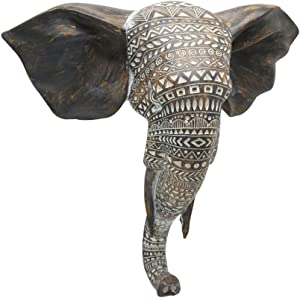 Otartu African Elephant Wall Bust Sculpture 11