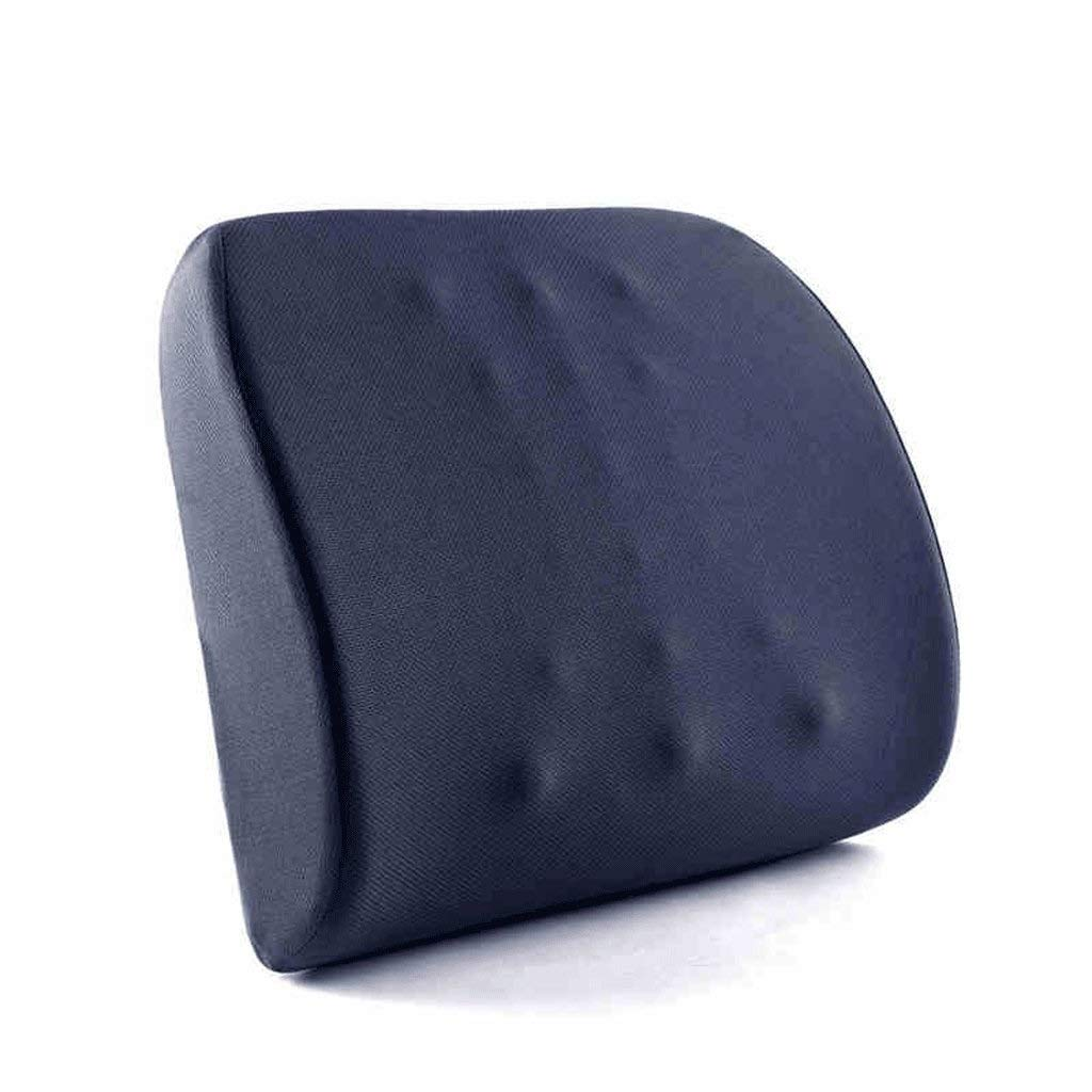 ZAQXSW Memory Cotton Office seat Back Cushion Waist pad Car Massage Lumbar Pillow Cushion Chair Cushion