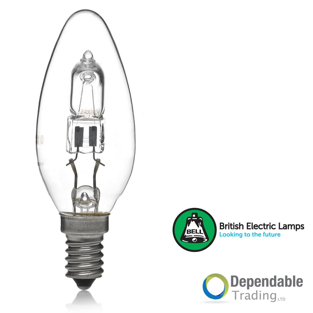 5 x 42w = 60w Halogen Energy Saving Candle SES (E14) Clear (Bell 05206)
