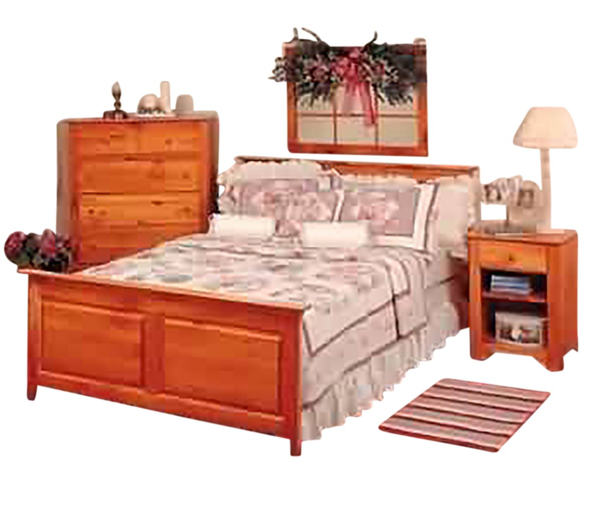Footboard Unfinished Pine Twin Footboard 45.5'' W | Renovator's Supply by Renovators Supply Manufacturing