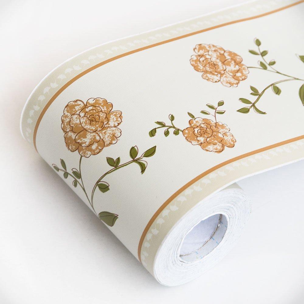 Laurustinus - Self-Adhesive Wallpaper Borders Home Decor(Roll) Blancho Bedding