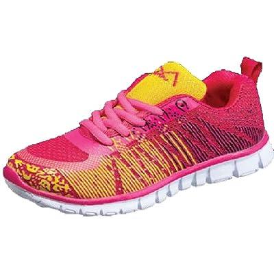 Kids Ultra Light Athletic Sneaker Shoe (12, Glide Fuchsia)