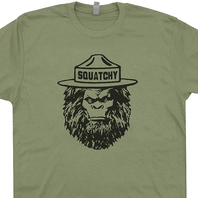 33681b1cad7 XXXL - Squatchy Shirt Sasquatch Tee Bigfoot Appalachian Trail Hiking Smokey  The Great Smoky Mountains Bear