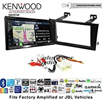 Volunteer Audio Kenwood DNX574S Double Din Radio Install Kit with GPS Navigation Apple CarPlay Android Auto Fits 2000-2004 Toyota Avalon with Amplified System