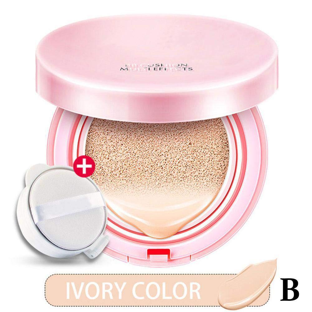Binglinghua Air Cushion BB Cream Concealer Makeup Korean Cosmetics Bare Make up Foundation Sunscreen Moisturizing (Ivory)