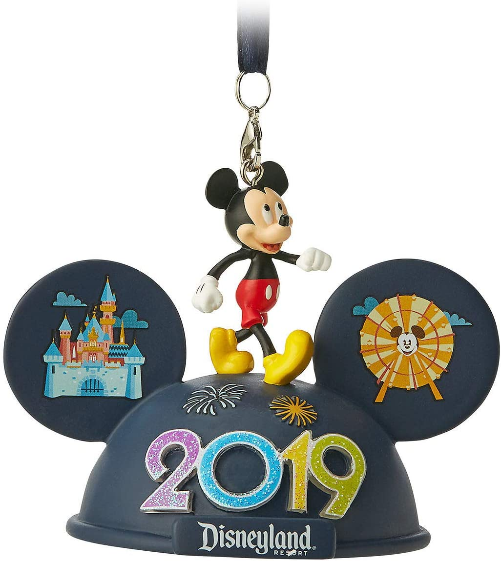 Theme Parks Disneyland Resort 2019 Mickey Mouse Light-Up Ear Hat Ornament