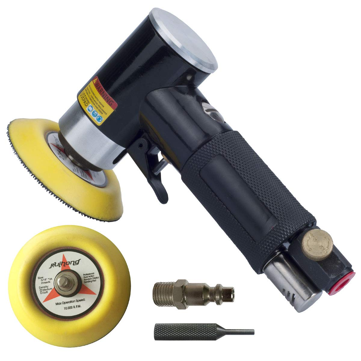 2'' and 3'' Random Orbital Air Sander, Pneumatic Sander for auto sanding tools, Dual Action Polisher, air angle sander, pneumatic angle sander