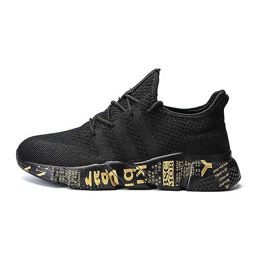 Zapatillas de Deporte Hombre Zapatos para Correr Athletic Cordones Zapatillas De Running Trail Tenis Basket Sneakers Respirable Bambas Hombre: Amazon.es: ...
