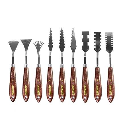 Amazon.com: Bestgle - Juego de 9 cuchillos para paleta de ...