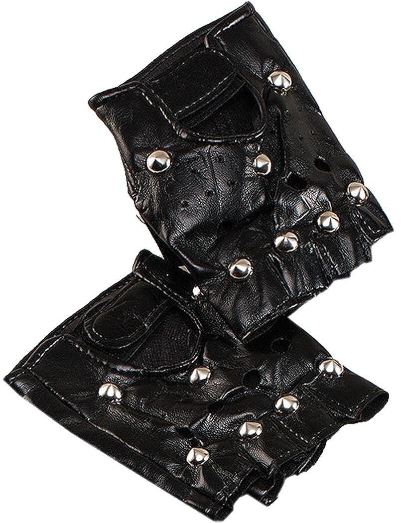 Déguisement Fête Noël De 1980 Rock Star Billy Idol Gothique Clouté Punk Gant Noir Bristol Novelty