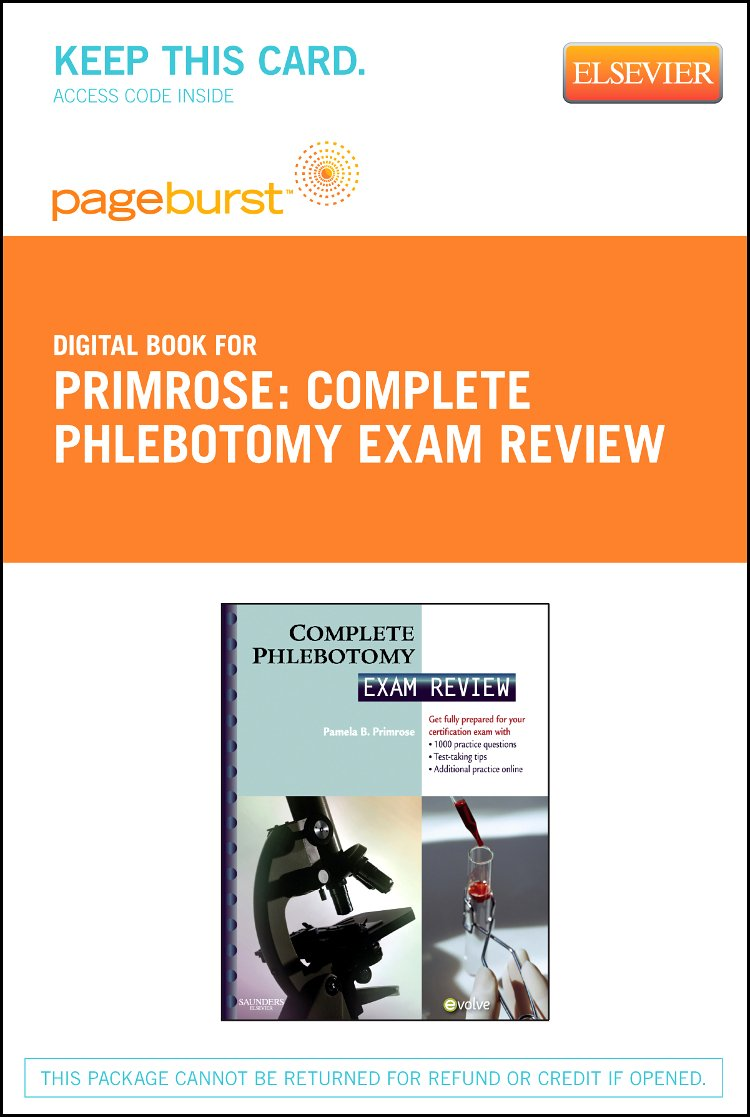 Buy Complete Phlebotomy Exam Review Pageburst Access Card Book