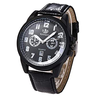 Relojes para Hombre Vestido de Moda Reloj de Pulsera con Banda de Cuero