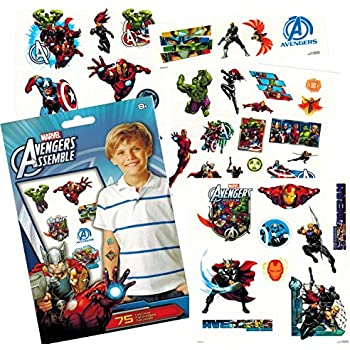 0a4f95f45ce4 Marvel Avengers Temporary Tattoos Party Set (75) -- Avengers Infinity War  Tattoos Featuring