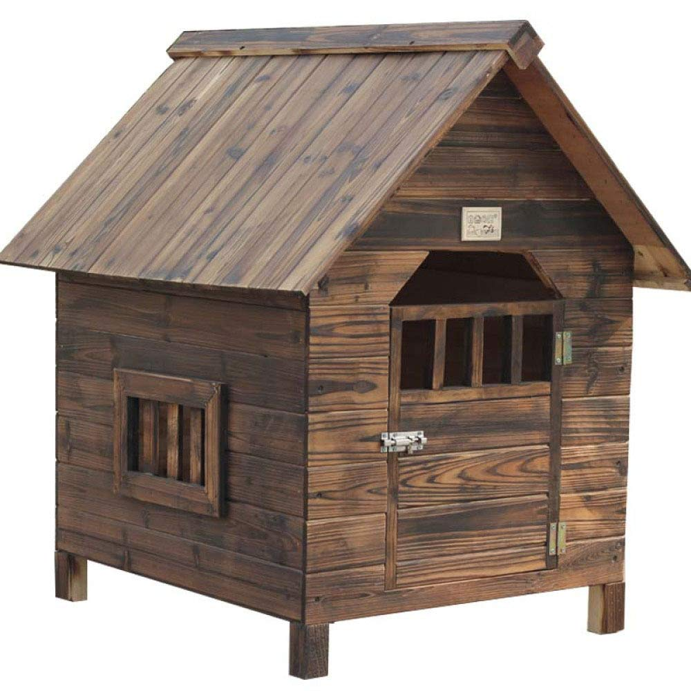 Onecolor 564548cm Onecolor 564548cm Doghouse Pet Summer Large Dog golden Retriever Wood Waterproof Dog Cage Outdoor Teddy Dog Villa,Onecolor-56  45  48cm