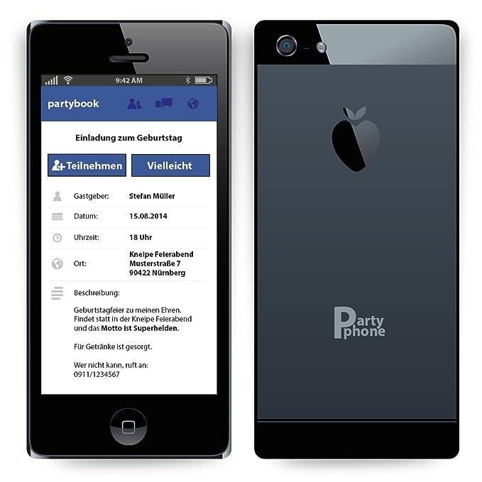 Cartes dinvitation pour anniversaire de votre smartphone même iPhone téléphone portable: Amazon.fr: Fournitures de bureau