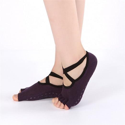 Uiophjkl Calcetines de Yoga Antideslizantes. Calcetines de ...