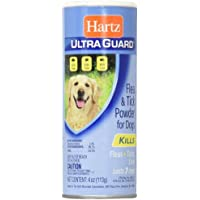 Hartz Ultra Guard Flea & Tick Powder For Dogs 4 oz (Pack of 6)