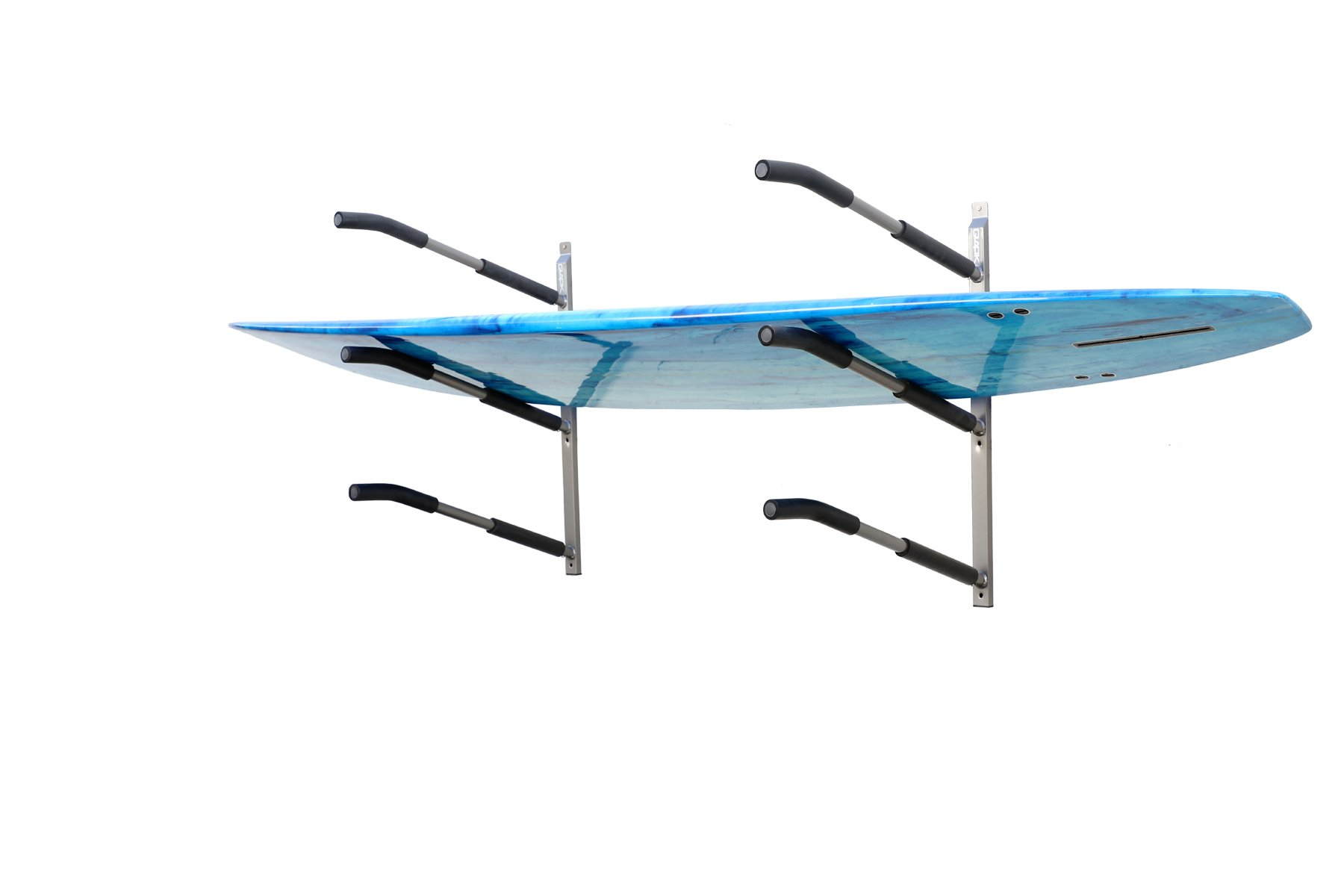 Glacik Universal Wall Mount Rack Storage with Padded Arms for 3 SUP Paddle Boards by SPAREHAND
