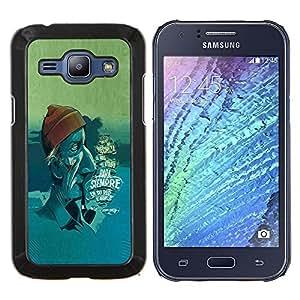 EJOOY---Cubierta de la caja de protección para la piel dura ** Samsung Galaxy J1 J100 ** --la cara de mar