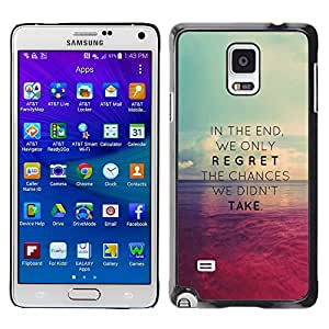 Plastic Shell Protective Case Cover || Samsung Galaxy Note 4 SM-N910 || Chances Missed Take @XPTECH