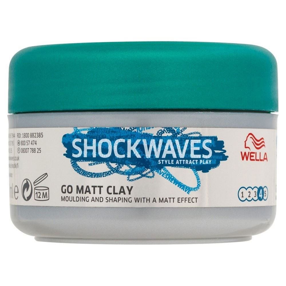 Wella Shockwaves Ultimate Effects Texture Go Matte Clay (75ml) Groceries