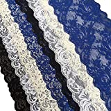 Olive Lace 6 Inch Assorted Stretchy Lace Elastic