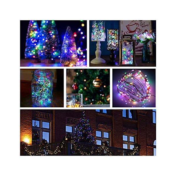 Catene Luminose, BAKTH Stringa Luci LED Impermeabile IP67 per interni/esterni/Natale/Matrimonio e camera da letto 8 Modalità(2 x 10M 100LED,Multicolore) 4 spesavip