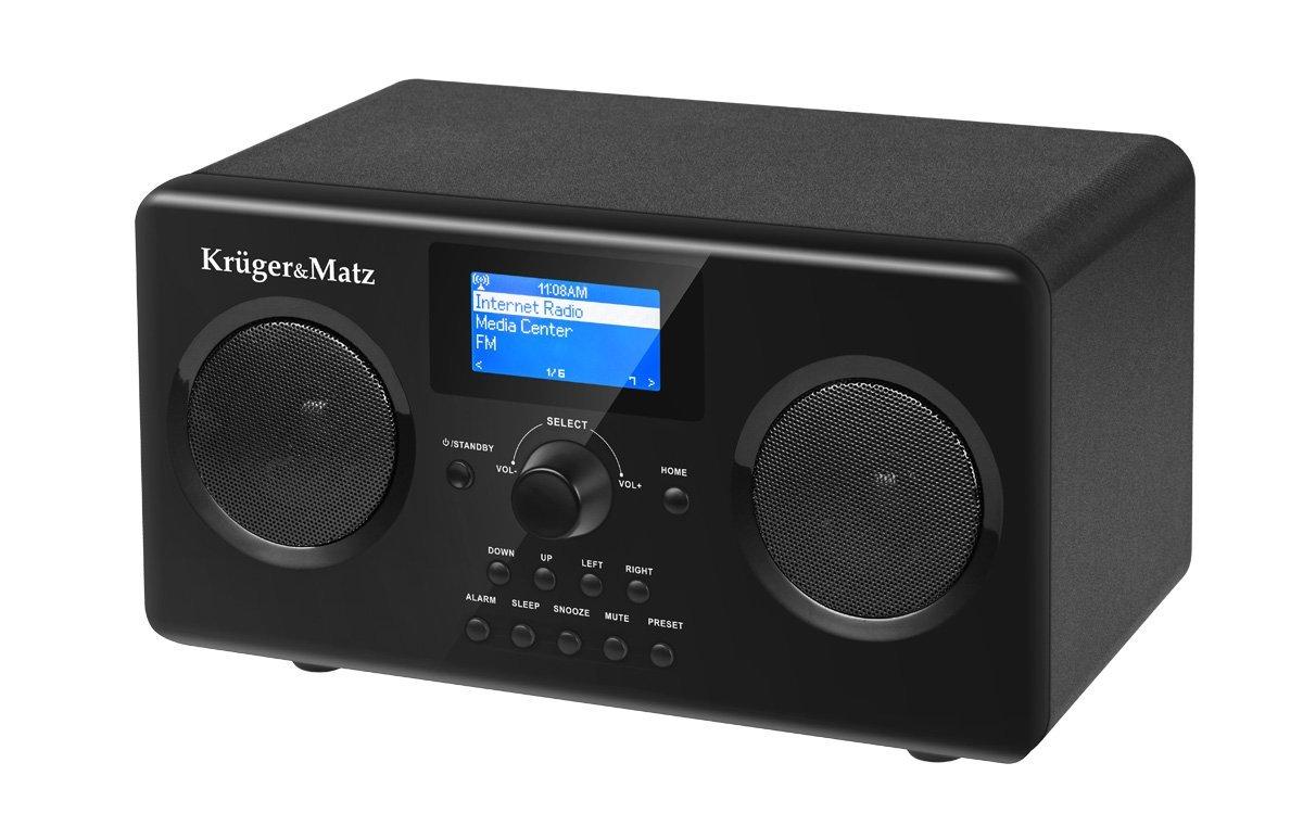 Krüger&Matz KM0812 - Radio (Reloj, Analógico y Digital, FM, 2 W, LCD, Negro)