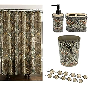 Brown And Green Bathroom Accessories