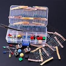 Haitronic 254 in 1 Arduino components prototype kit with resistors(10 kinds: 10R-1M), LEDs(5 color), Switch, B50K Potentiometer, pin header for Arduino UNO R3, MEGA2560, Nano V3, Raspberry Pi, etc DIY