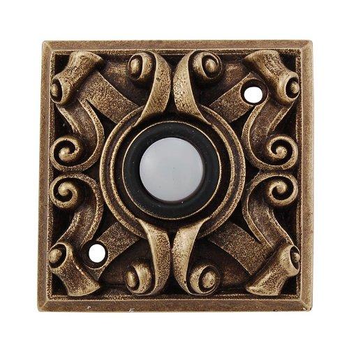 Vicenza Designs D4008 Italian Style Doorbell, Antique Brass
