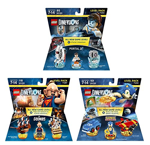 Goonies Level Pack + Sonic The Hedgehog Level Pack + Portal 2 Level Pack - Lego Dimensions (Non Machine Specific)
