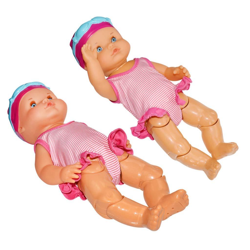 33cm Wasserspa/ß Swimmingpool f/ür Wasserdichtes Elektrisches Puppen Bestes Geschenk Spielzeug f/ür Kinder 33 cm QHJ Lebensecht Baby Doll Puppen