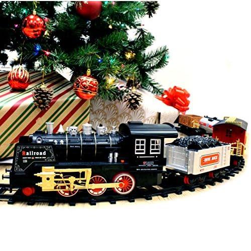 best joyin classic holiday electric premium train set big train 12 engine with
