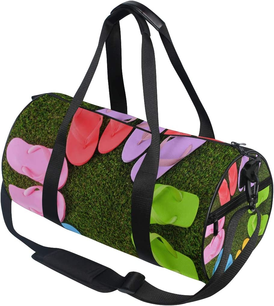 Duffel Bag Fun Flip Flop Styles Women Garment Gym Tote Bag Best Sports Bag for Boys