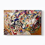 """Composition VII canvas art print. Completed only in four days (November 25-28, 1913), """"Composition VII"""" is very impressive with its large size. Commonly cited as the pinnacle of Kandinsky's pre-World War I achievement, the painting has multiple refer..."""