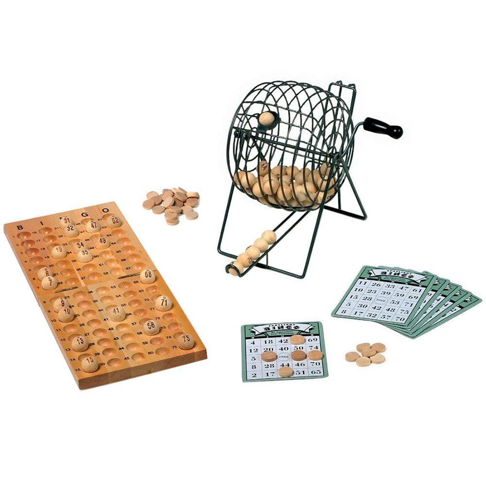 Small Foot by Legler Bingospiel / Beschäftigungsspiel mit Misch- und Losmaschine aus Metall, 24 Spielkarten, 75 Kugeln und 150 Spielchips aus Holz, ab 6 Jahren small foot company 2019762