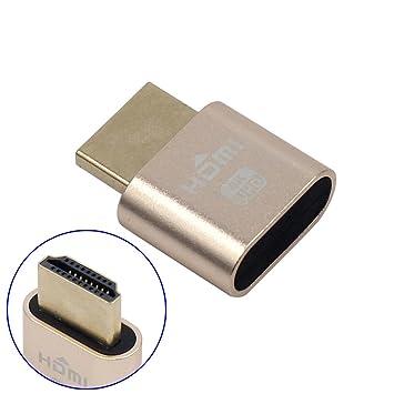 Espeedy Adaptador de pantalla virtual ,WBTUO VGA HDMI 1.4 DDC EDID Conector de prueba simulado Emulador de pantalla: Amazon.es: Hogar