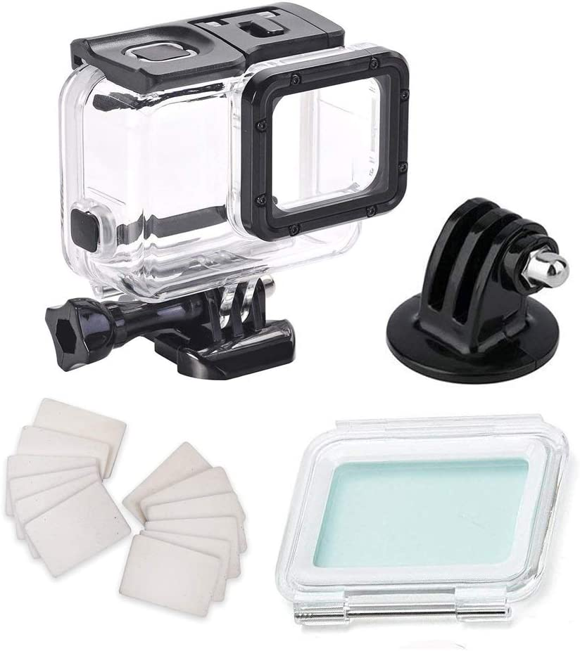 Waterproof Housing Case for Gopro Hero7 Silver Hero7 White, with Anti Fog Inserts Accessories Suitable for Underwater Diving Photography 45M Protective Shell