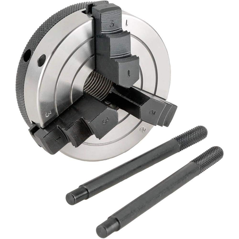Grizzly H8035 3-Inch 3-Jaw Wood Chuck, 1-Inch by 12 TPI