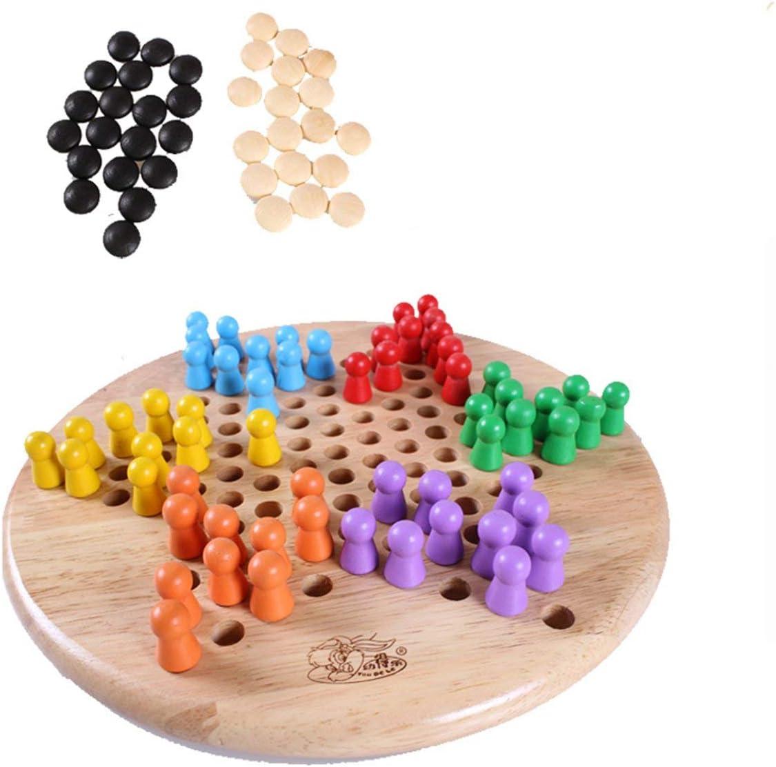 Prima05Sally Gomoku in Legno da Salto Gioco da Tavolo in Legno Bicolore a Due Colori per Bambini Giochi da Tavolo Giocattoli educativi