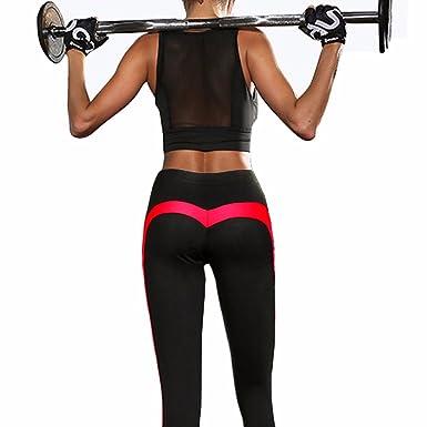 b5ef92114 FITTOO Women s Heart Shape Yoga Pants Sport Pants Workout Leggings Sexy  High Waist Trousers - Black