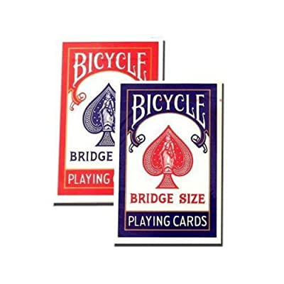 Bicycle Bridge Standard Index Playing Cards - 1 Red Deck and 1 Blue Deck: Toys & Games