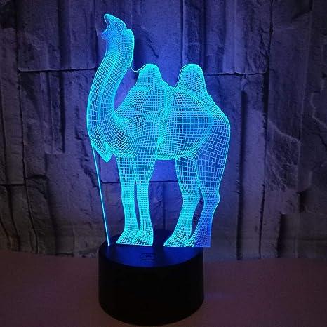 Amazon.com: Lámpara de mesa 3D con iluminación óptica LED de ...