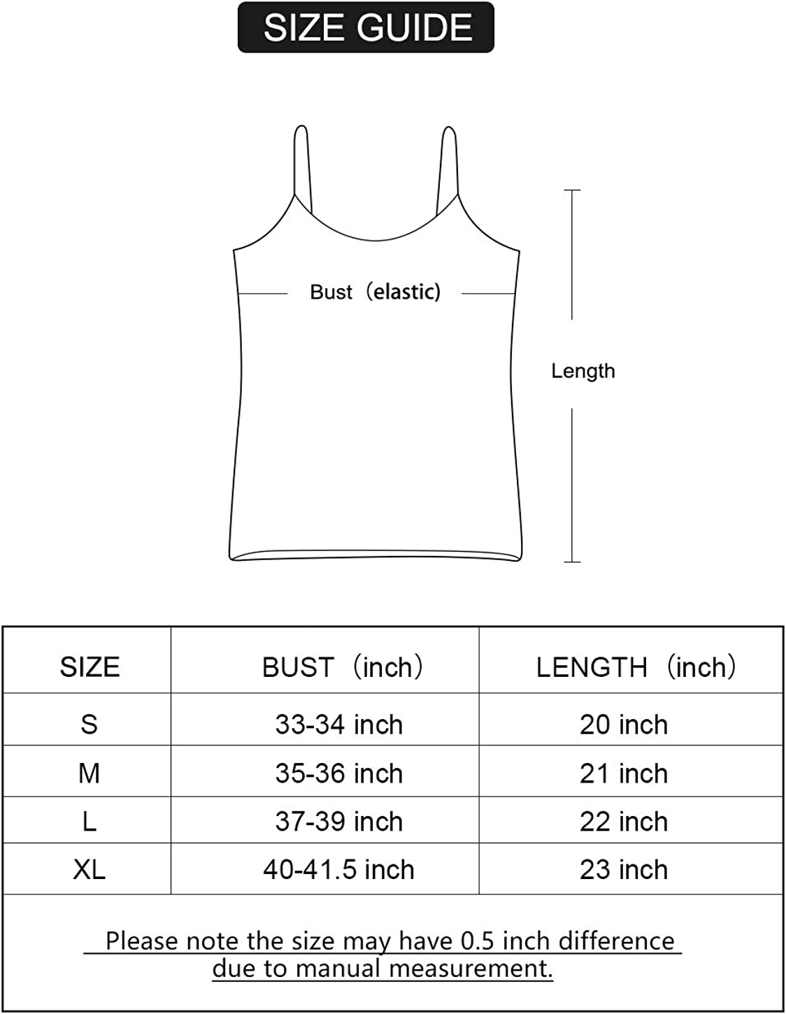 AMVELOP Adjustable Camisole for Women Spaghetti Strap Tank Top Super Soft Camisoles at  Women's Clothing store