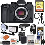 Fujifilm X-H1 Wi-Fi Digital Camera Body with 128GB Card + Battery & Charger + Backpack + LED Light/Flash + Microphone + Tripod Kit