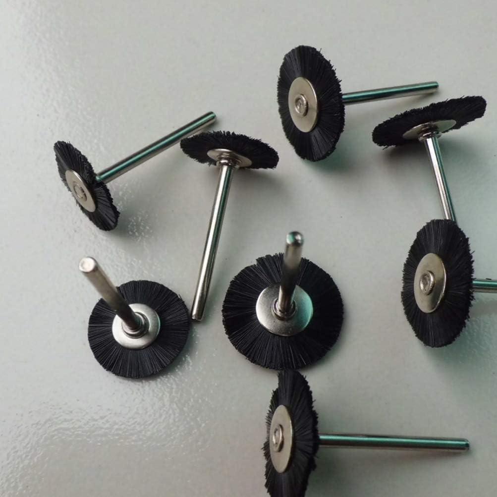 negro DOITOOL 10 piezas de 3 mm de nylon cepillo de rueda pulidor de madera amoladora para herramientas rotativas