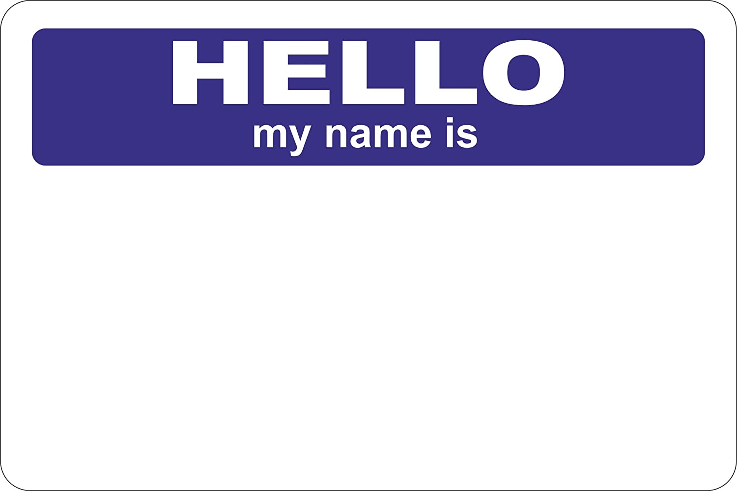 The Pencil Grip Hello My name is.. Blue Badges 2