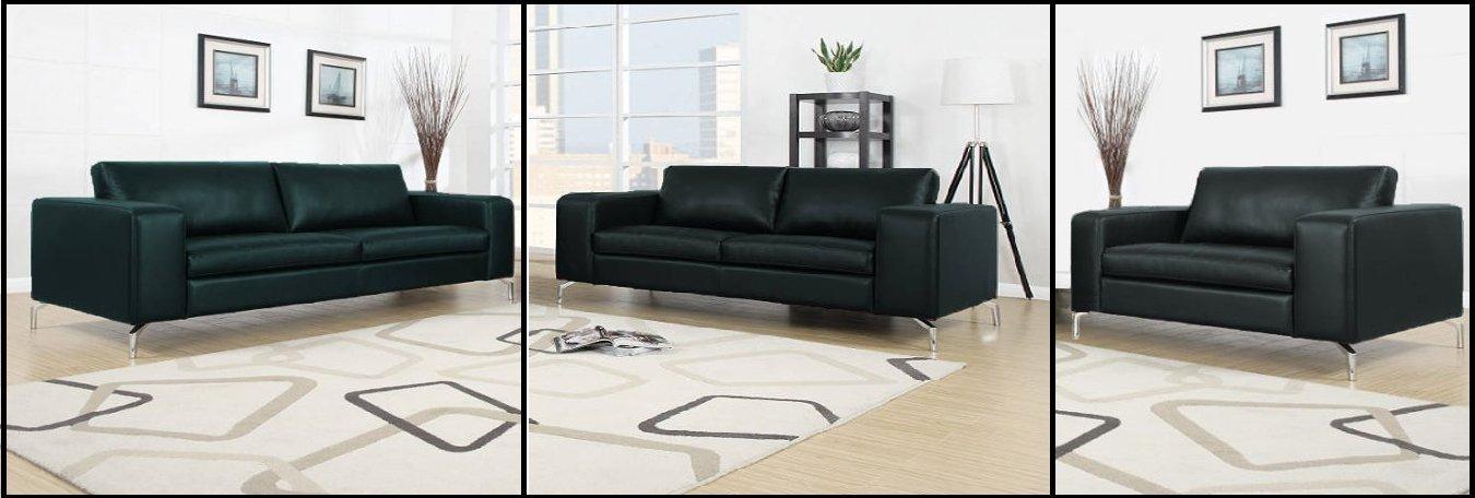 Madison sofa set 3er 2er 1er wohnlandschaft schwarz for Sofa 2er 3er