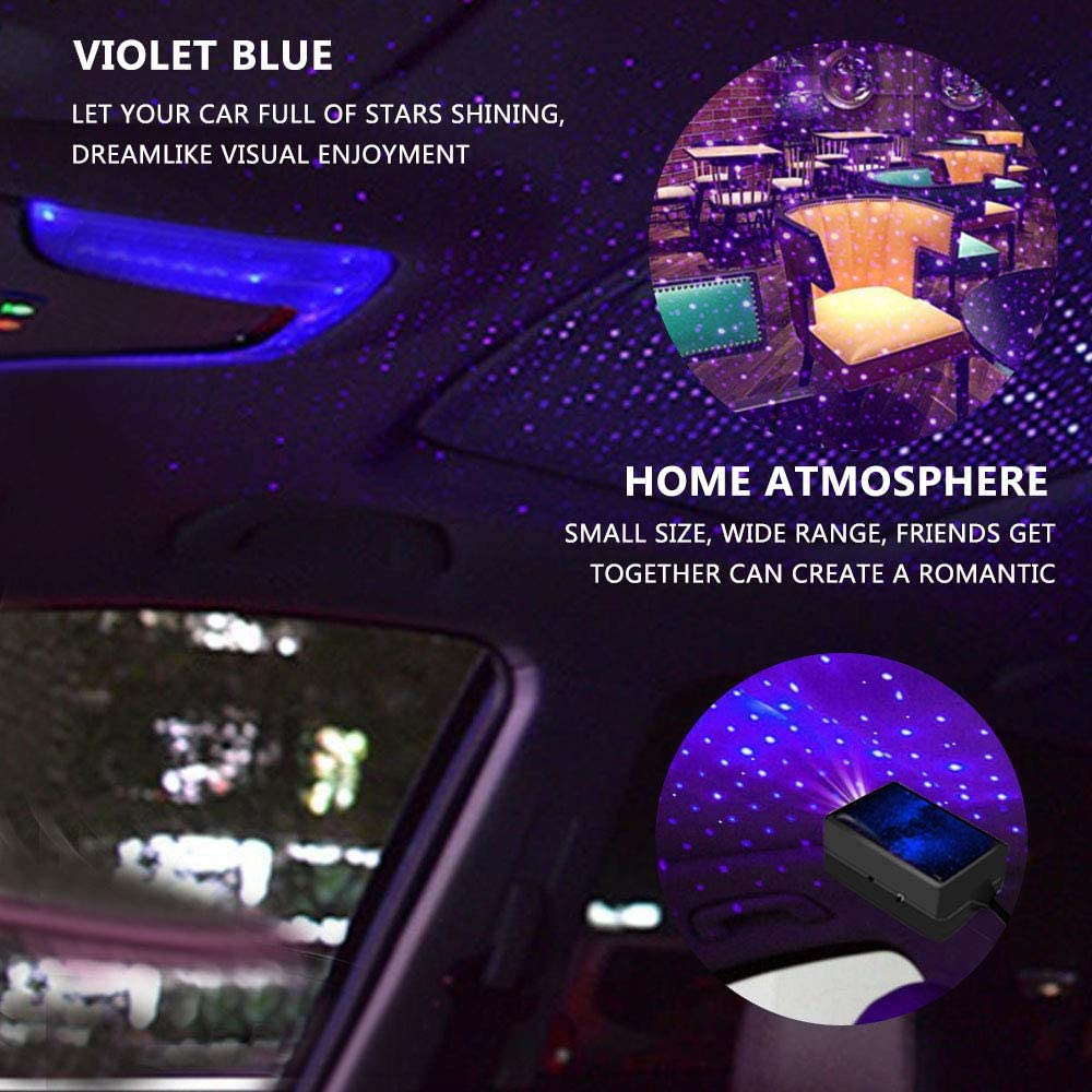 Eyefed LED Car Roof Star Light,Adjustable Multiple Modes,USB Night Star Ceiling Lights,Add Voice control